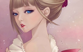 Picture girl, face, tenderness, art, ruffles, dong xiao