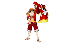 Picture sake, game, One Piece, pirate, hat, smile, anime, man, boy, flag, captain, hero, asian, manga, …