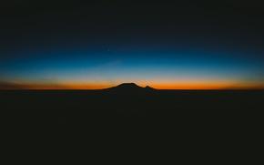 Picture sunset, horizon, rasvet, twilight