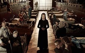 Picture the series, hospital, nun, bed, Season 2, Zachary Quinto, zachary quinto, serial, asylum, American horror …