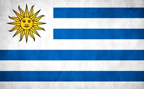 Wallpaper texture, flag, Uruguay, flag, Uruguay