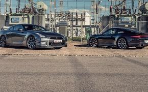 Picture 911, Porsche, Nissan, GT-R, Porsche, Nissan, Carrera, 2015