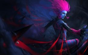 Wallpaper blood, lol, magic, evelynn, killer, Widowmaker, League of Legends