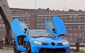 Picture McLaren, Mercedes-Benz, SLR, tuning, blur, cut48 and Edo competition