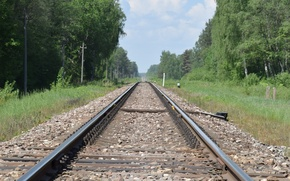 Picture nature, railway track, rail journey