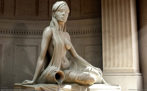 Wallpaper Aquarius, dmitriy egorov, Girl, Statue