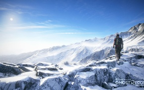 Picture landscape, mountains, soldiers, ghost recon wildlands