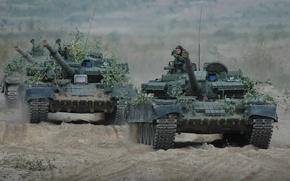 "Picture sand, exercises, tanks, column, Photo, ""Union Shield-2011""."