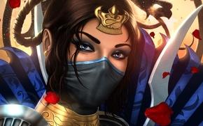 Wallpaper look, art, Mortal Kombat, Kitana