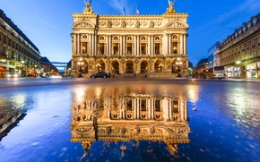 Picture reflection, the building, Grand Opera, France, France, Paris, Palais Garnier, Paris, Paris Opera, Opera Garnier