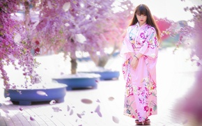 Picture girl, style, spring