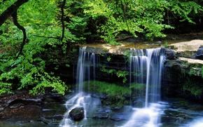 Picture summer, landscape, waterfall, beauty