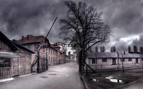 Picture Noir, Auschwitz, Auschwitz, work makes you free