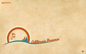 Picture orange, green, island, California