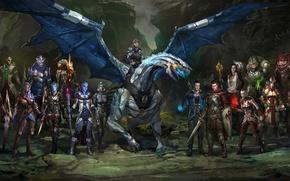 "Picture Mass Effect, Shepard, Jack, Jeff ""Joker"" Moreau, Liara T Soni, Subject Zero"