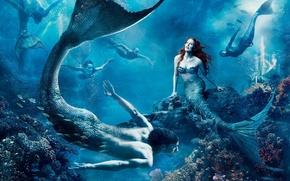 Picture sea, being, underwater world, mermaid