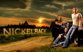 Picture machine, sunset, the evening, America, rock band, nickelback