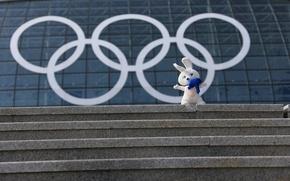 Picture talisman, Olympics, Sochi, Bunny