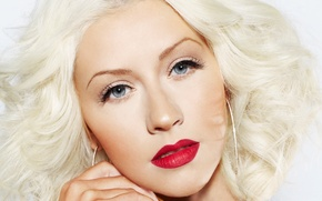 Picture girl, face, makeup, blonde, lips, singer, Christina Aguilera, celebrity, Christina Aguilera