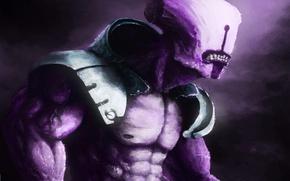 Picture lilac, being, art, torso, muscle, press, Dota 2, Faceless Void, Dark terror, Tensaiteki