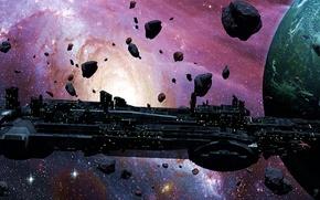 Picture space, nebula, planet, stars, asteroids, orbit, space, nebula, science fiction, stars, spaceship, planet, science fiction, …
