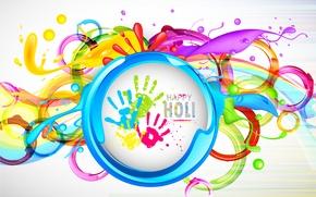 Picture background, paint, blots, Colorful, prints, palm, colorful, Festival, festival, Happy Holi