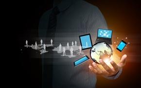 Picture Internet, the globe, hi-tech, social network