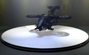 Picture rendering, helicopter, the plane, Studio