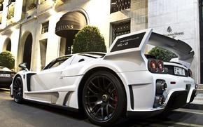 Picture white, Aston Martin, Ferrari, white, the hotel, Ferrari, aston martin, enzo, hotel, gemballa, Enzo