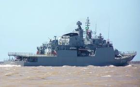 Picture flag, Brazil, navy, 4.5-inch cannon, Corvette Barroso (V-34), Barroso Class, Brazil flag, the Navy of …