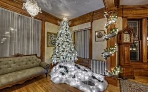 Picture sofa, holiday, tree