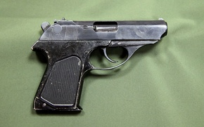 Picture rare, trigger, fading, little, small, clip, the trigger, gun, aluminum, background, fly, pistol, 45x18, was, ...