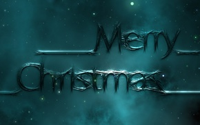 Picture the sky, space, stars, night, fog, style, letters, the dark background, holiday, the inscription, graphics, …