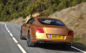 Picture road, mountains, coupe, bentley