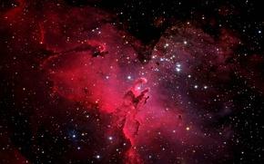 Picture space, nebula, stars, shape