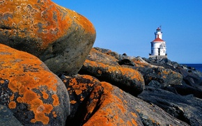 Wallpaper Lighthouse, Stones, Wisconsin