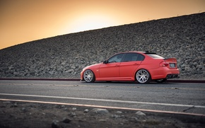 Picture tuning, BMW, BMW, Red, red, tuning, 335i, E90, The 3 series