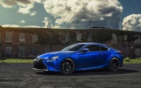 Picture car, blue, rc 350, lexus rc350