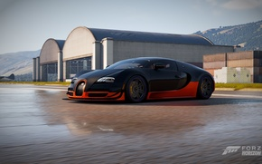 Picture veyron, grand sport, Buggati, wet road, Forza horizon