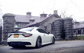 Picture Maserati, White, Street, Tuning, Granturismo, Bodykit