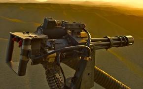 Wallpaper Gatling, helicopter, machine gun