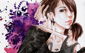 Picture style, music, figure, guitar, tattoo, watercolor, guy, actor, rock, singer, Asian, visual kei, visual kei, …