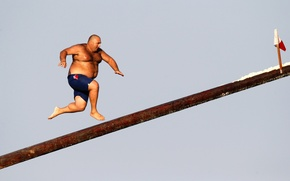 Picture goal, balance, fat, nog, making the flag, Super sexy