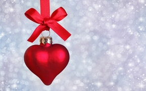 Picture heart, New Year, Christmas, tape, Christmas, heart, decoration, lace, Merry
