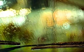 Wallpaper wipers, glass, drops, rain, machine