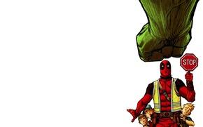 Wallpaper stop, Hulk, marvel, Deadpool, stop, deadpool, hulk, Comics, Wade Wilson