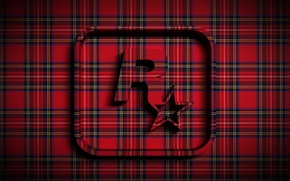 Wallpaper star, fabric, emblem, the volume, rock, Rockstar, tartan