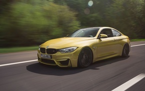 Picture BMW, turbo, Coupe, power, front, speed, face, germany, angel eyes, F82.tuning