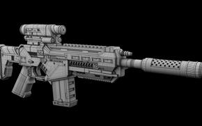 Picture design, firearm, assault rifle