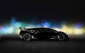 Picture Lamborghini, Black, Murcielago, Side, LP670-4, Super, Veloce